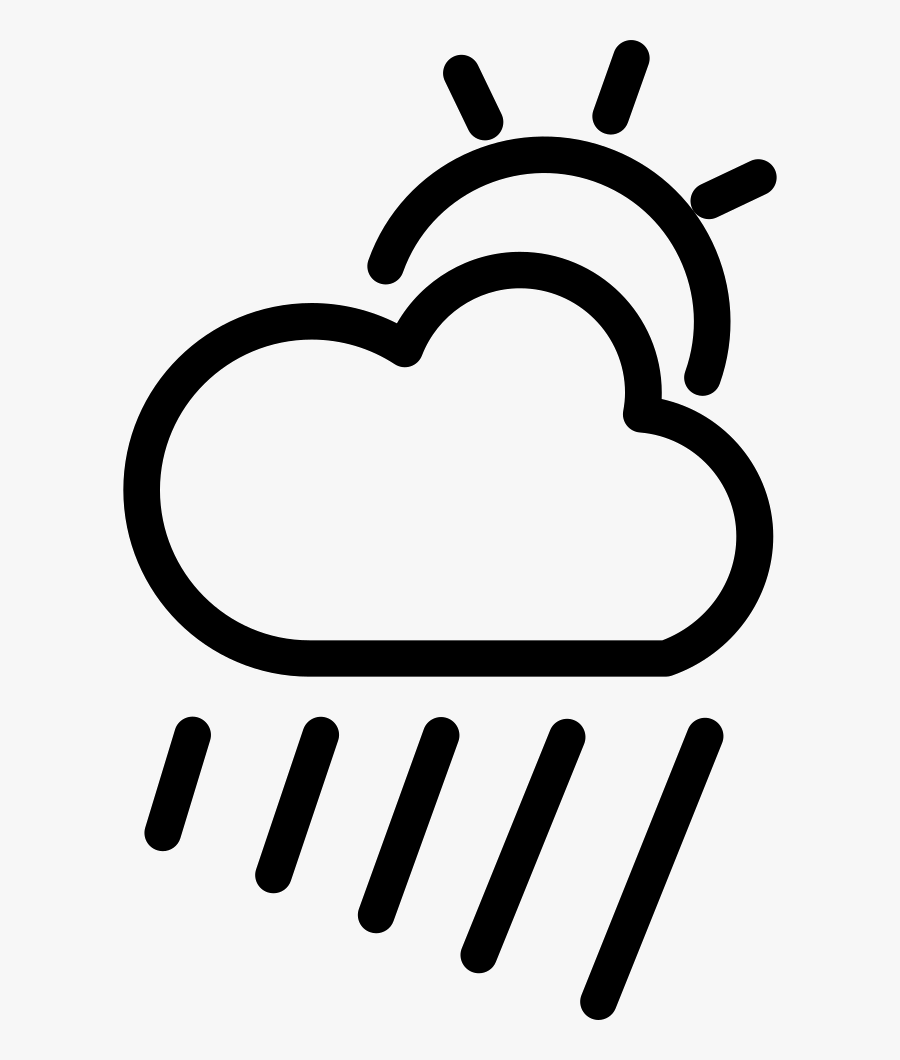 Cloudy Rainy Day Weather Symbol Comments - Simbolo Chuvoso, Transparent Clipart