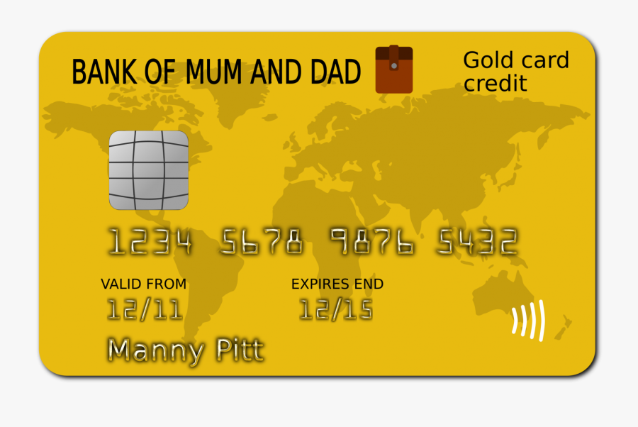 Banner Transparent Stock Card Clip Art Free - Bank Of Mum And Dad Card Manny, Transparent Clipart
