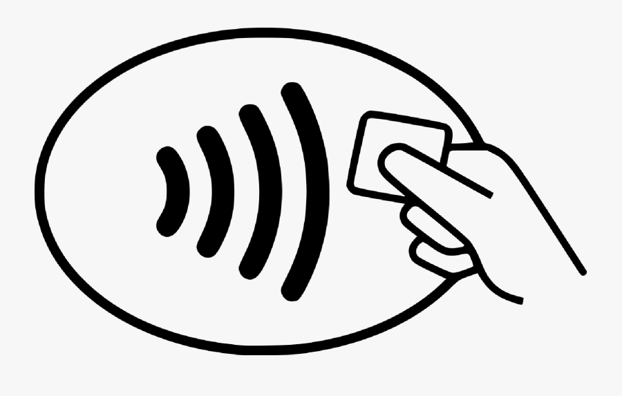Contactless Payment Logo Vector, Transparent Clipart