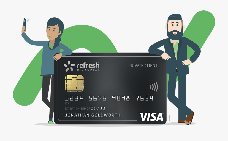 The Flexibility Of A Credit Card Without Going Into - Refresh Financial Secured Visa, Transparent Clipart