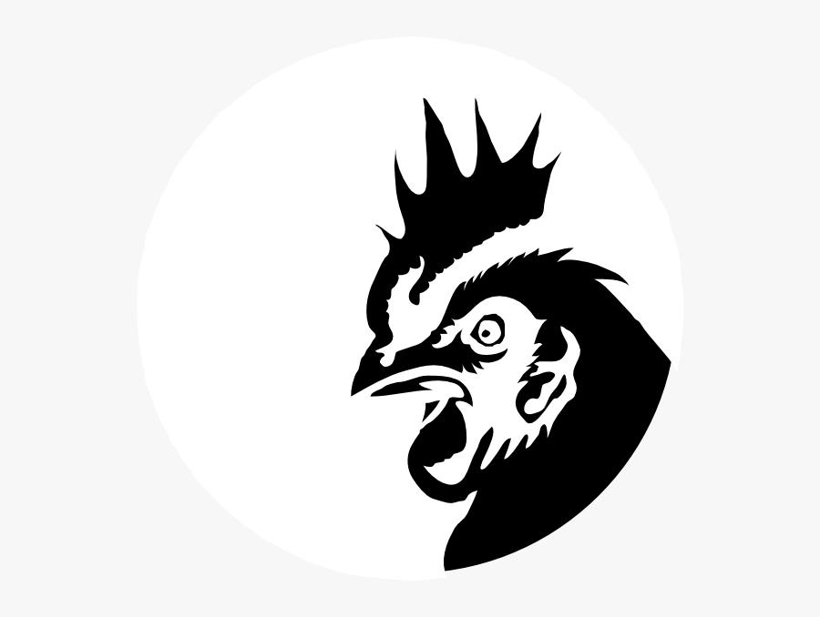 Chicken Profile Black Silhouette Clip Art - Head Chicken Vector Png, Transparent Clipart