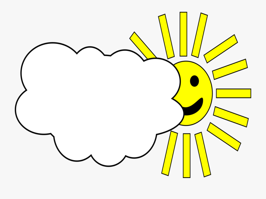 Free Vector Sun - Cloudy Weather, Transparent Clipart