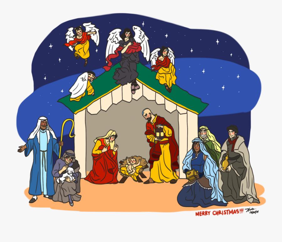 Nativity Scene Clipart Cute - Christmas Day, Transparent Clipart