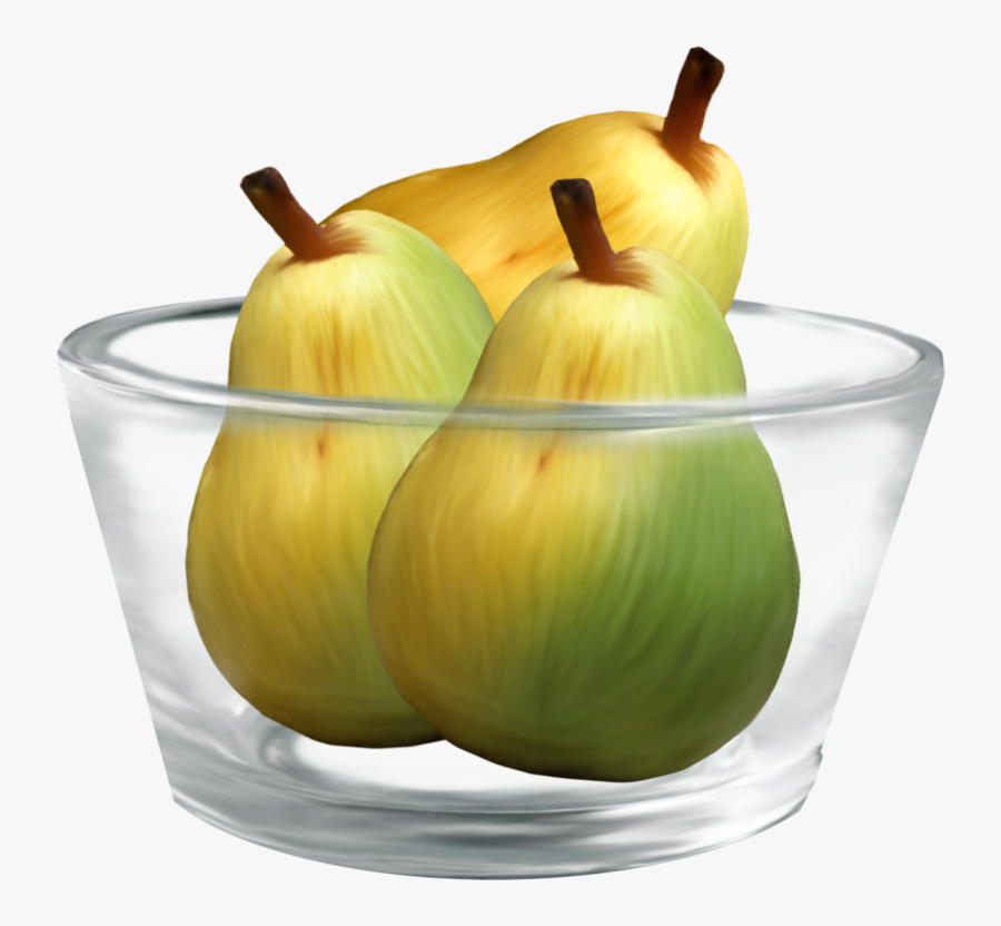 Pears In A Glass Bowl Png Clipart - Bowl Of Pears Clip Art, Transparent Clipart
