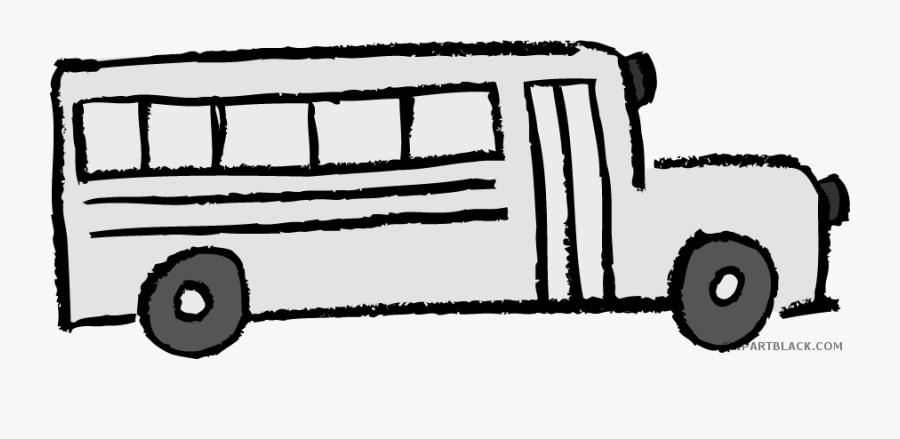 School Bus Transportation Free Black White Clipart - Yellow School Bus Clipart, Transparent Clipart
