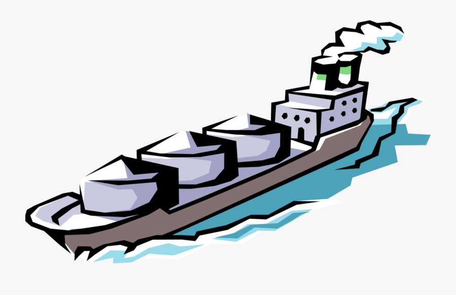 Cargo Freight Transport Ship Clipart , Png Download ...