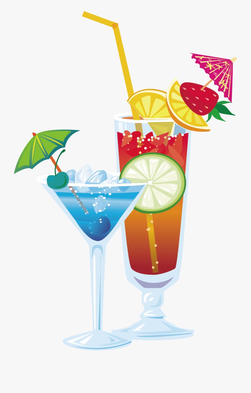 Clip Art Cocktail Illustration - Food Illustration Png Drink, Transparent Clipart