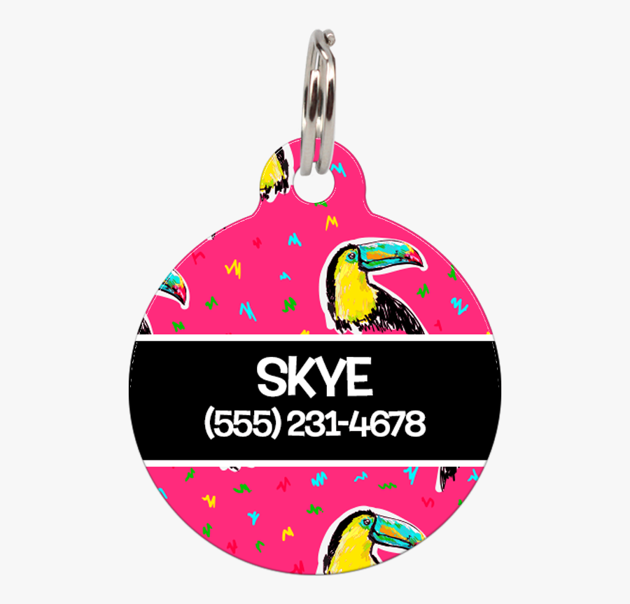 """Black Toucans Personalized Dog Id Tag For Pets""""  Class=""""lazyload - Dog, Transparent Clipart"""