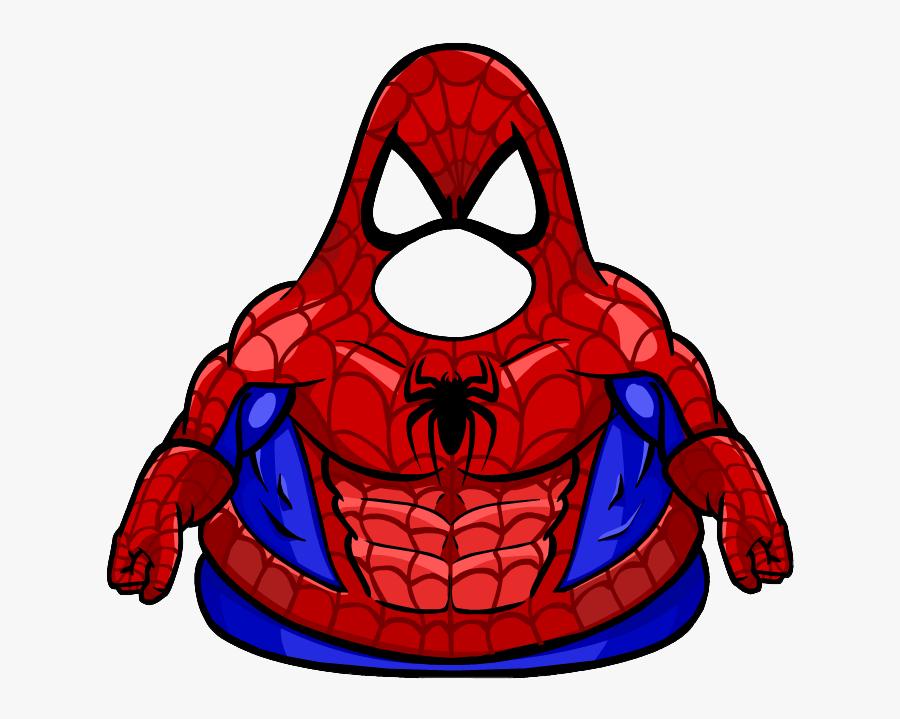 Club Penguin Wiki - Spiderman Suit Club Penguin, Transparent Clipart