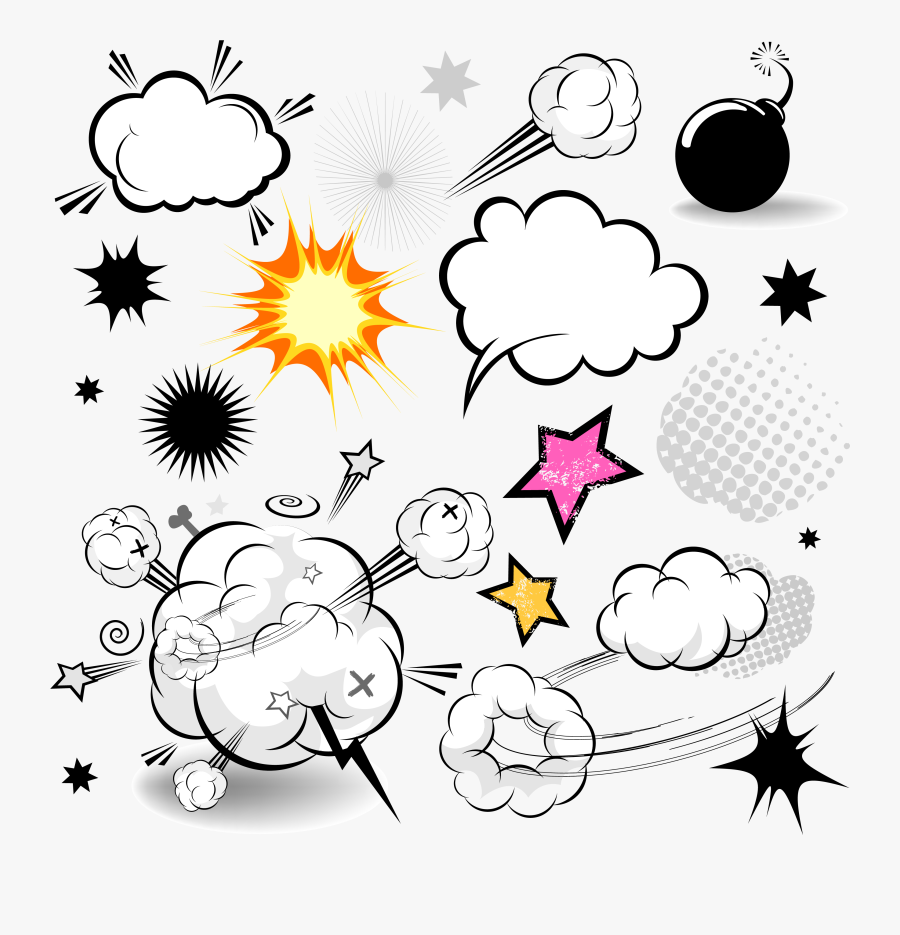 Comics Speech Balloon Cartoon - Cloud Comics Book Dialog Free Download, Transparent Clipart