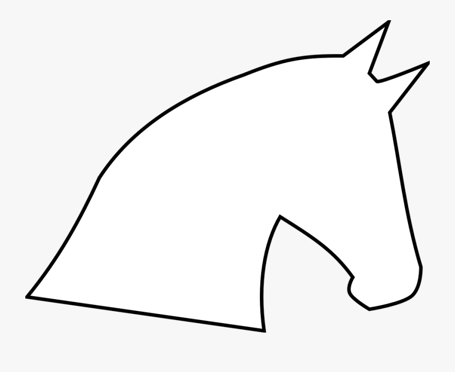 Easy Simple Horse Head Drawing, Transparent Clipart