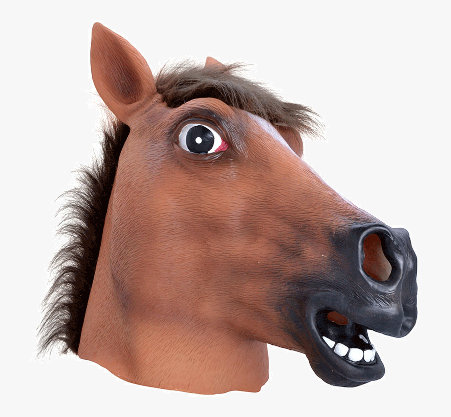 Brown Horse Mask Clip Arts - Transparent Horse Head Png, Transparent Clipart