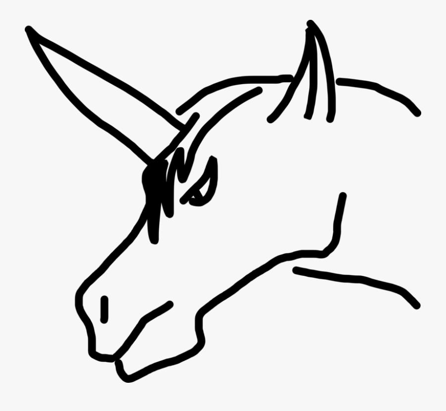 Monochrome - Gambar Kepala Kuda Kartun, Transparent Clipart