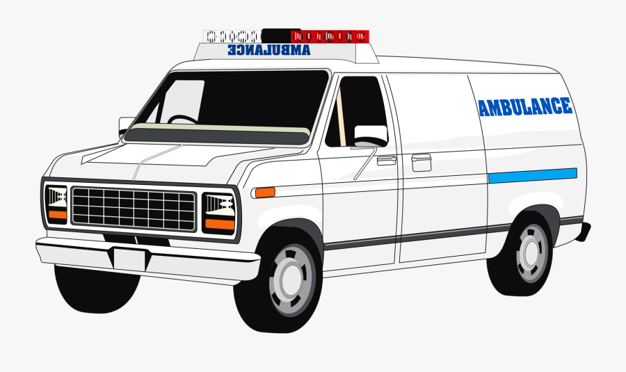Ambulance Clip Art , Png Download - Black And White Ambulance Clipart, Transparent Clipart