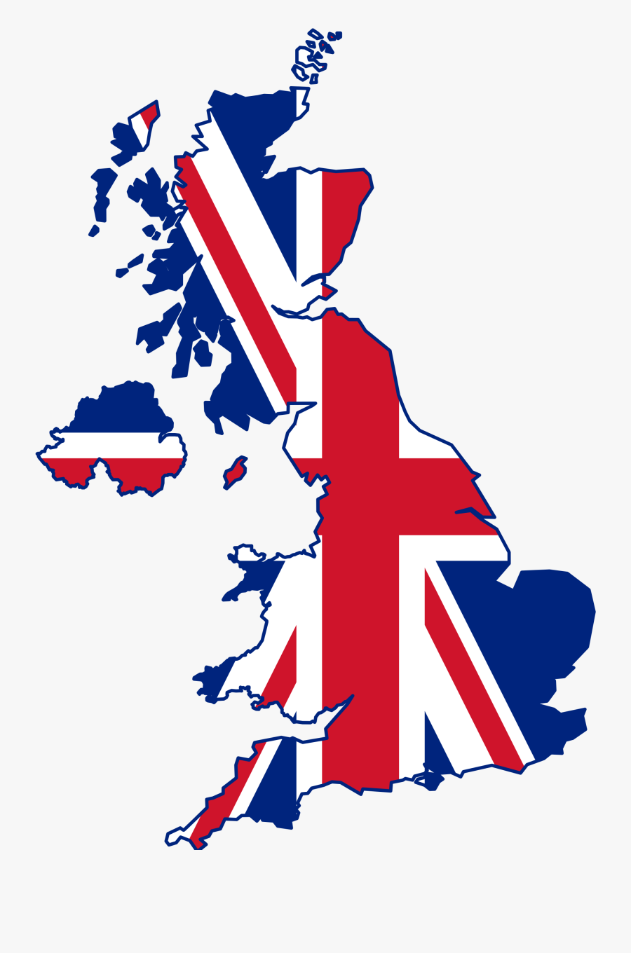 Waterfalls In The United Kingdom - United Kingdom Map Flag, Transparent Clipart