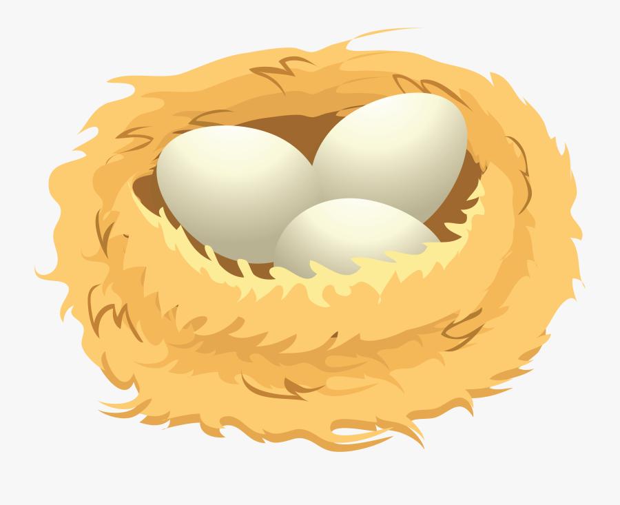 Eggs In A Nest Clip Art , Png Download - Birds Nest Clip Art, Transparent Clipart