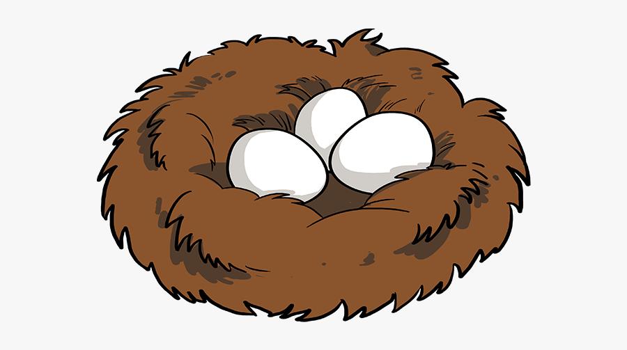 How To Draw Bird Nest - Easy Bird Nest Drawing, Transparent Clipart