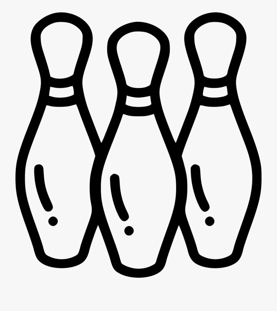 Bowl Bowling Pin Tenpin Pins - Bowling, Transparent Clipart