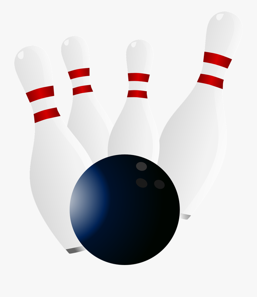 Bowling Pins And Ball Png, Transparent Clipart