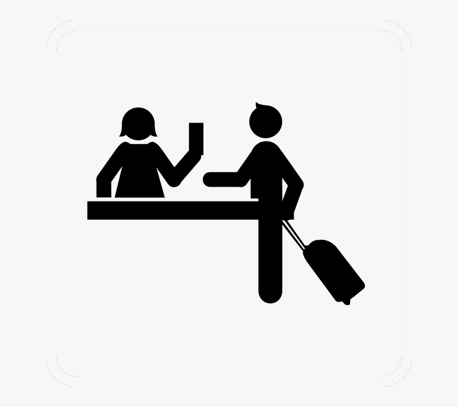 Reception - Hotel Check In Logo, Transparent Clipart