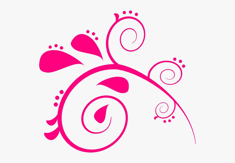 Paisly Pink 2 Clip Art At Clker - Ten Pin Bowling Clipart Pink, Transparent Clipart