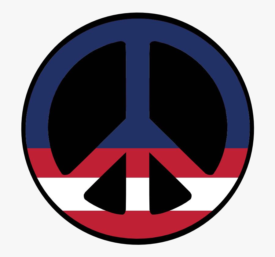 Us 36 Star Wagon Wheel Flag Peace Symbol Scallywag - Peace And Love, Transparent Clipart
