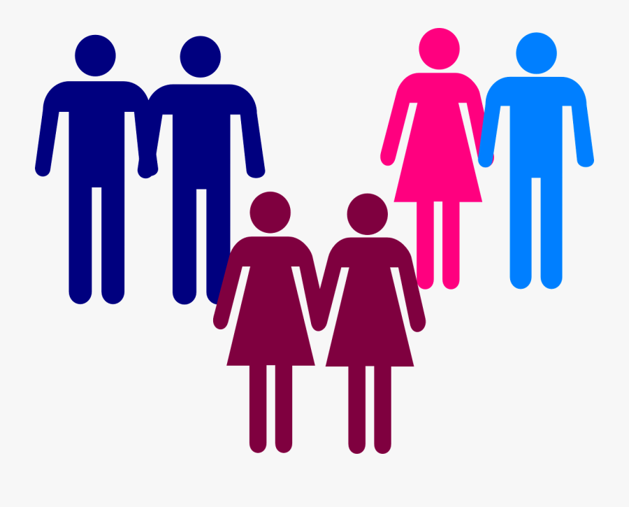 Men Women Holding Hands Clip Art - Gay And Straight Couple, Transparent Clipart