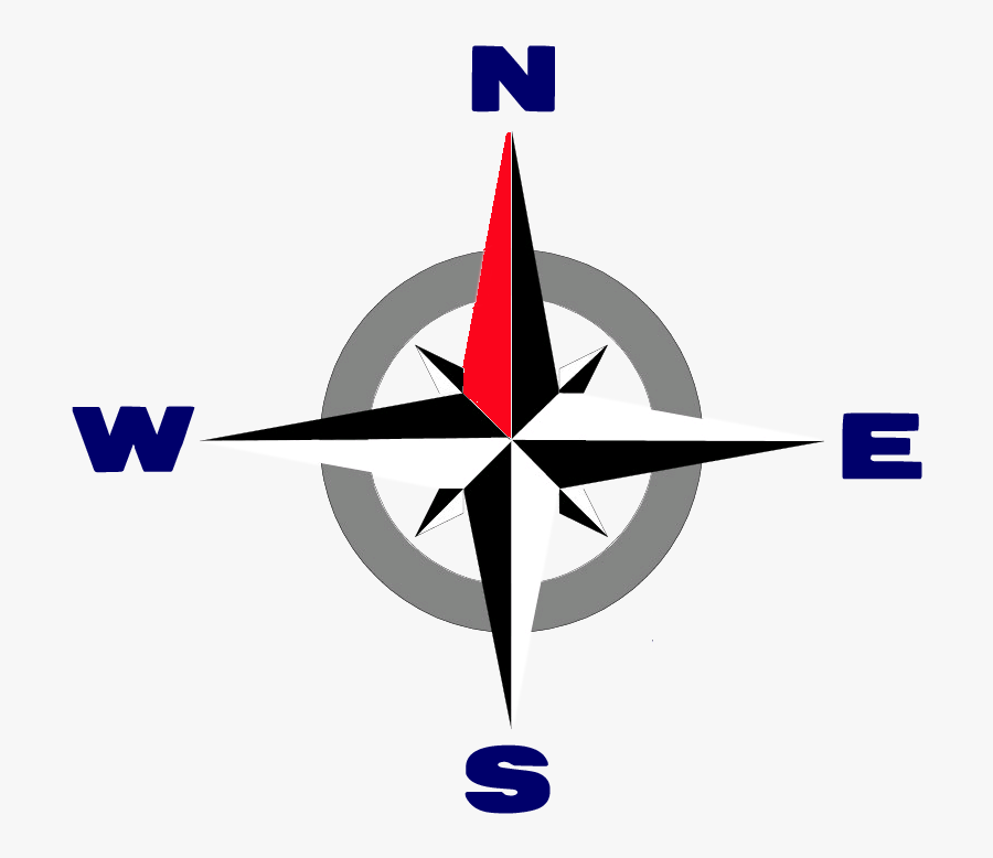 Compass Rose Transparent - Compass Rose For Coloring, Transparent Clipart