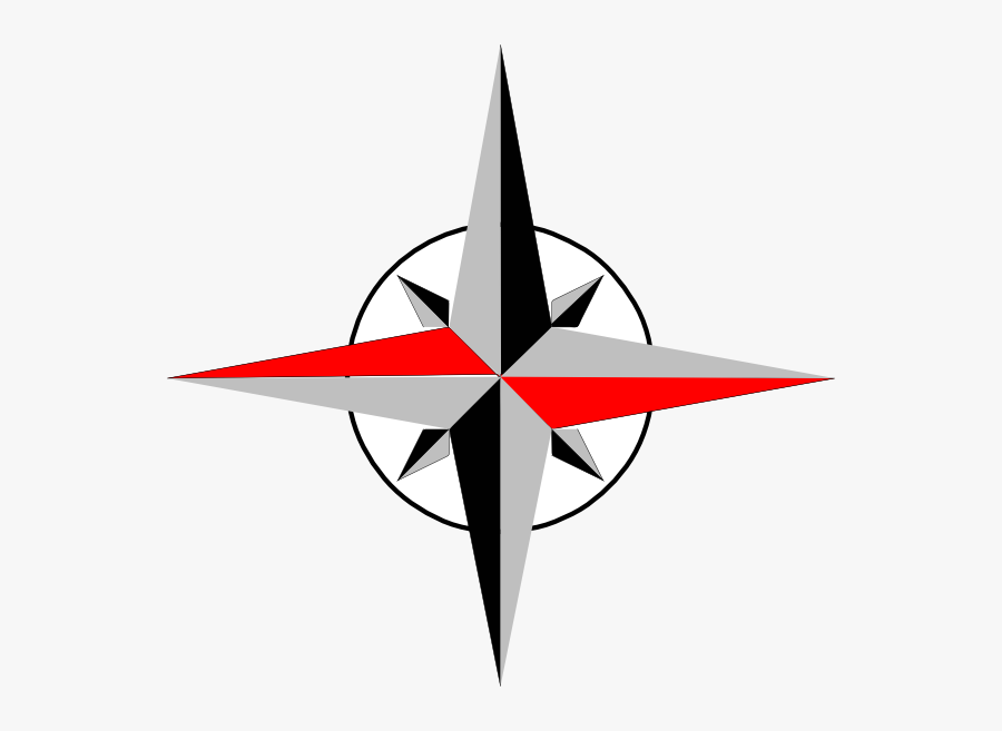 East West Compass Clip Art - East To West Compass, Transparent Clipart
