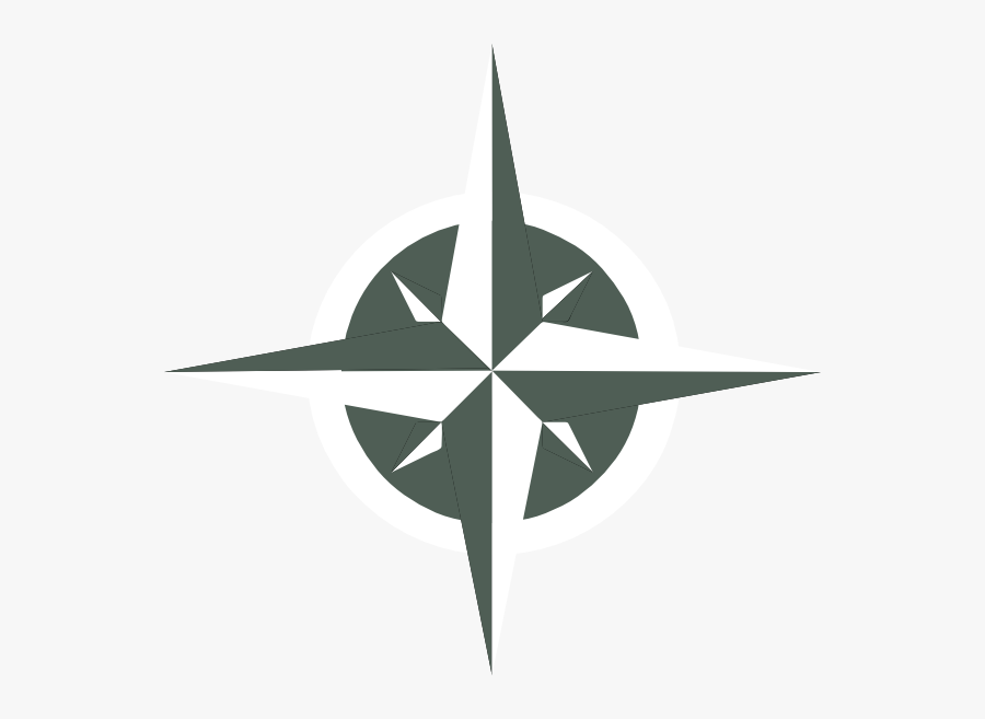 White Compass Rose Svg Clip Arts - Rose Of Winds Png, Transparent Clipart