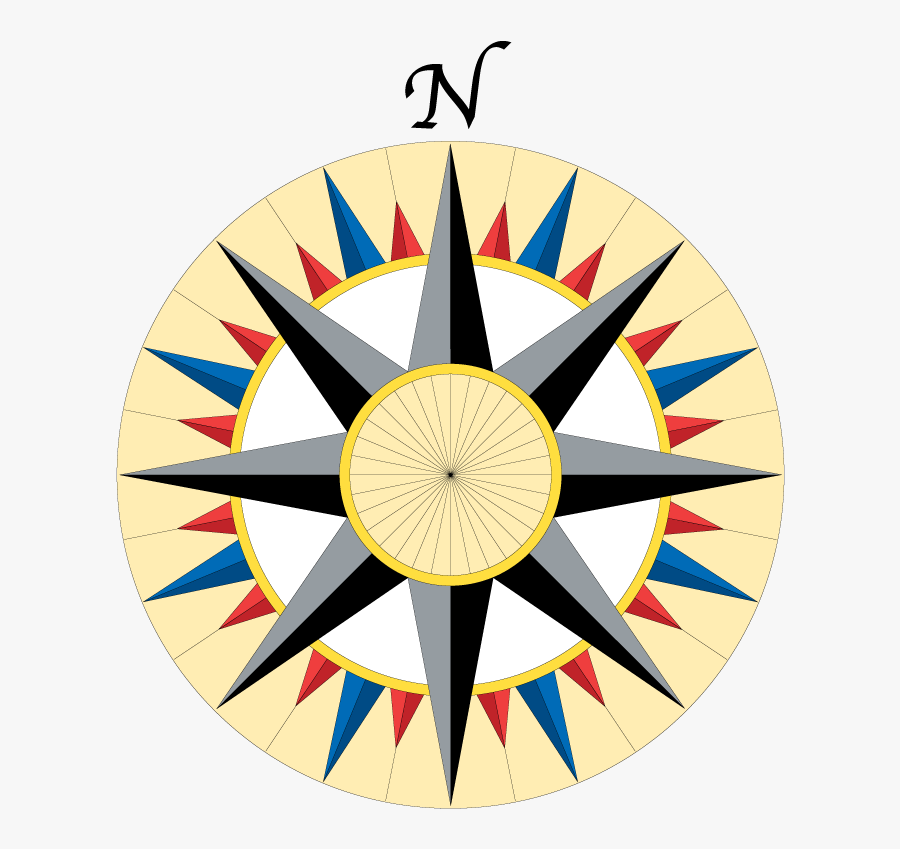 Compass Rose Clipart , Png Download - North South West East Gif, Transparent Clipart