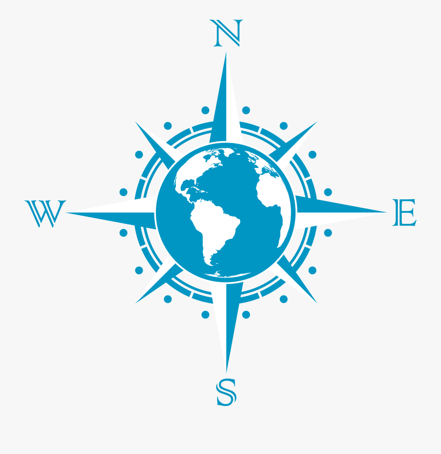 Compass Rose And Globe, Transparent Clipart