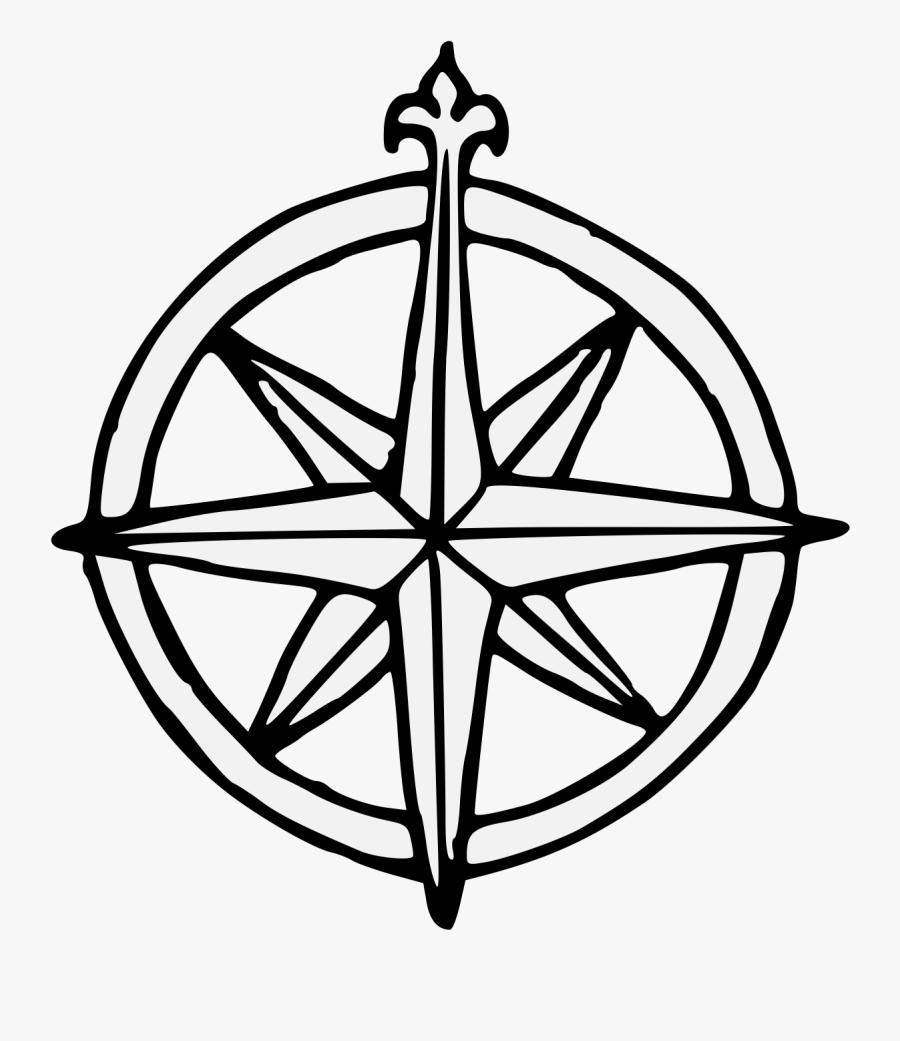 Compass Rose, Transparent Clipart