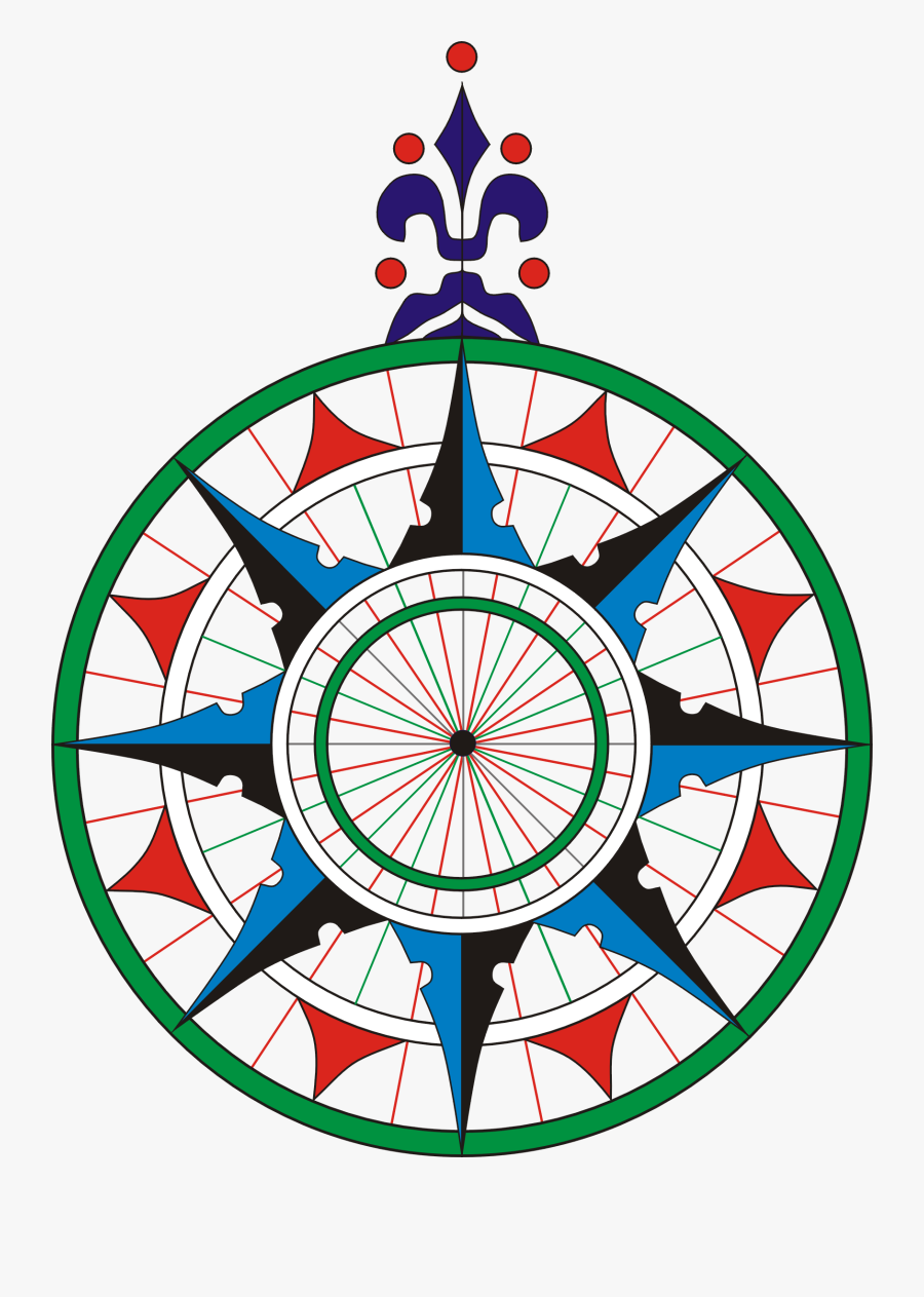 Printable Compass Rose 14, Buy Clip Art - Pedro E Jorge Reinel, Transparent Clipart