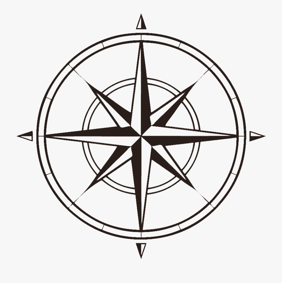 Compass That Shows North, West, South , Clipart - Transparent Background Compass Clipart, Transparent Clipart
