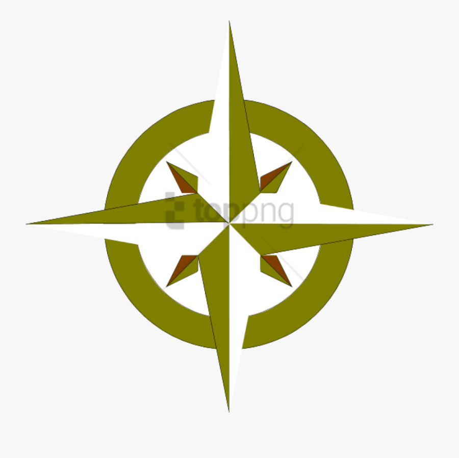 Gold Compass Rose Png Png Image With Transparent Background - Compass Points In Russian, Transparent Clipart