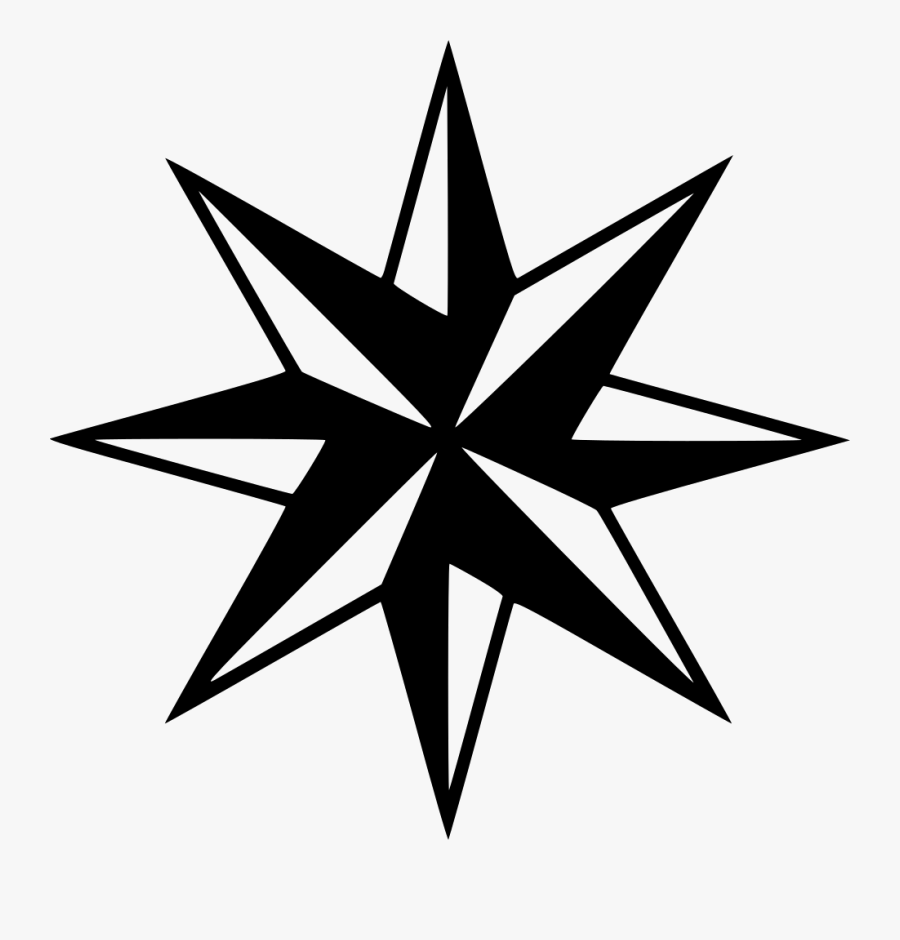 Compass Arrow Direction Directions Compass Rose - 8 Point Star Png, Transparent Clipart