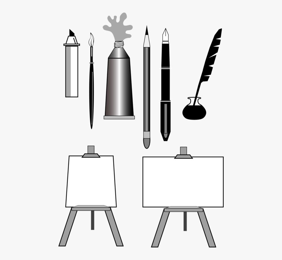 Angle,monochrome Photography,black - Artist Tools Clipart, Transparent Clipart