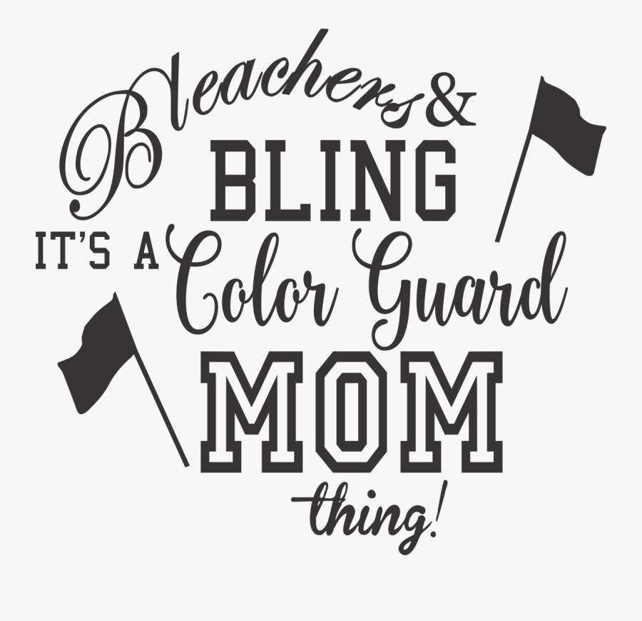 Color Guard Mom Clip Art, Transparent Clipart