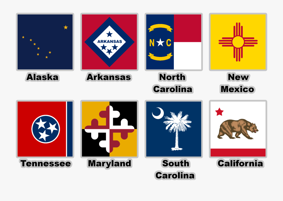 Various Usa State Flags With - South Carolina State Flag, Transparent Clipart
