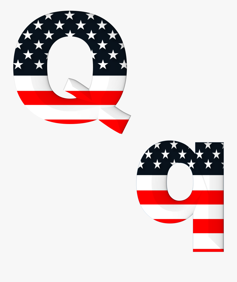 American Flag On The Letter C, Transparent Clipart