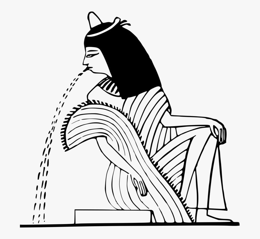 Art,monochrome Photography,text - Ancient Egyptian Line Art, Transparent Clipart