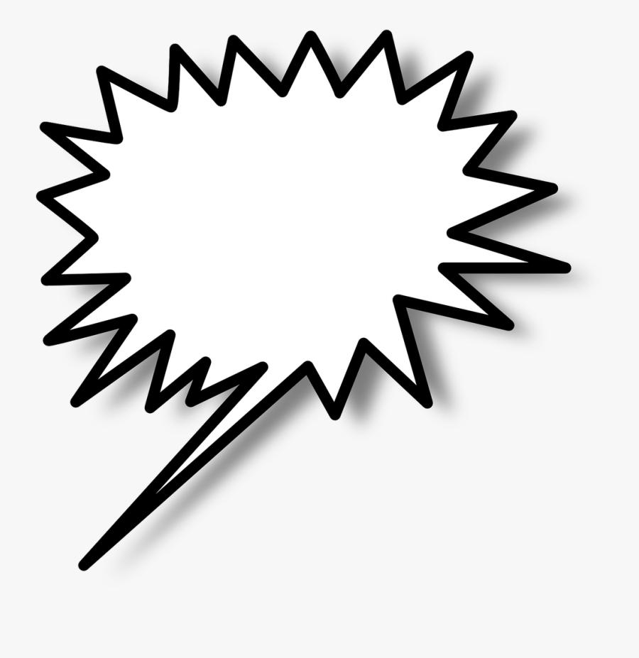 Speech Bubble, Speech Balloon, Balloon, Bubble, Speech - Star Burst Clip Art, Transparent Clipart