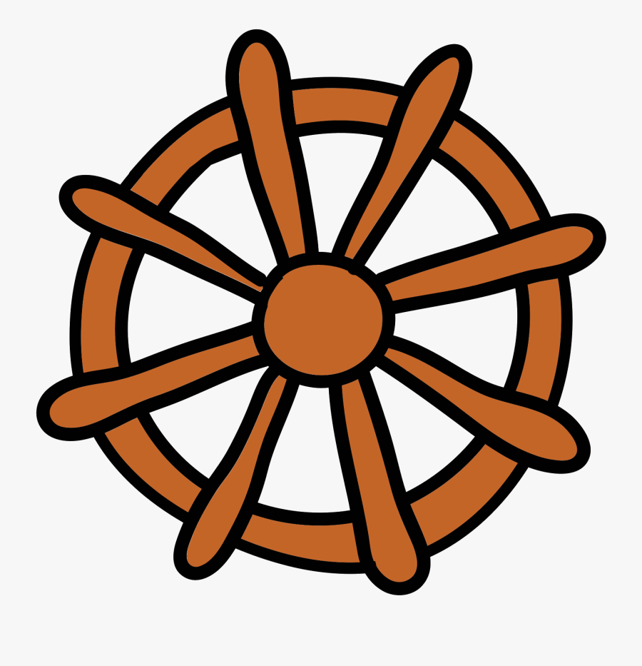 Ship Wheel Icon - Nautical Clipart Black And White, Transparent Clipart