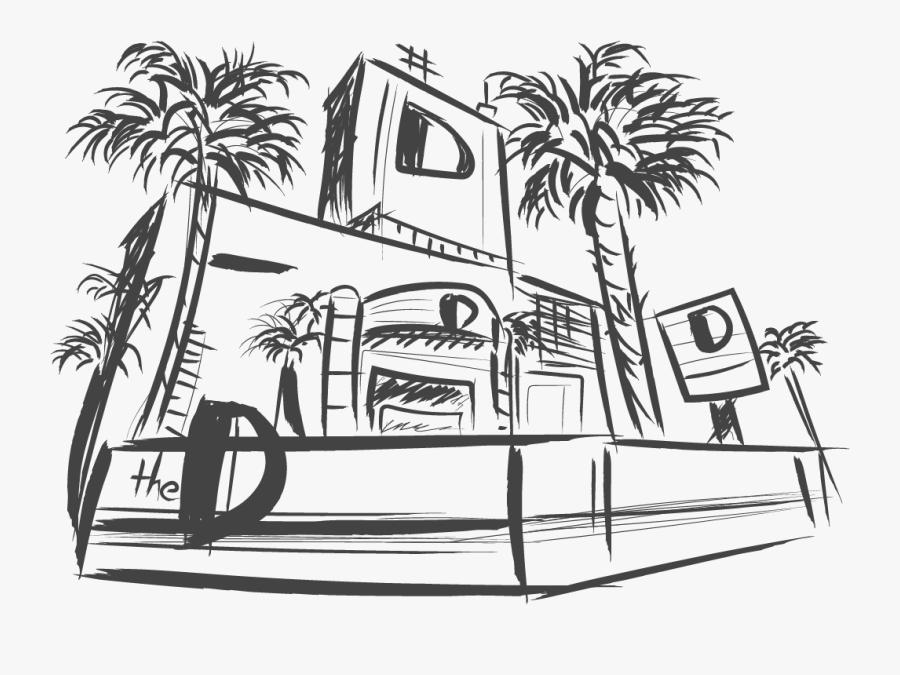 Las Vegas Car Sketch, Transparent Clipart