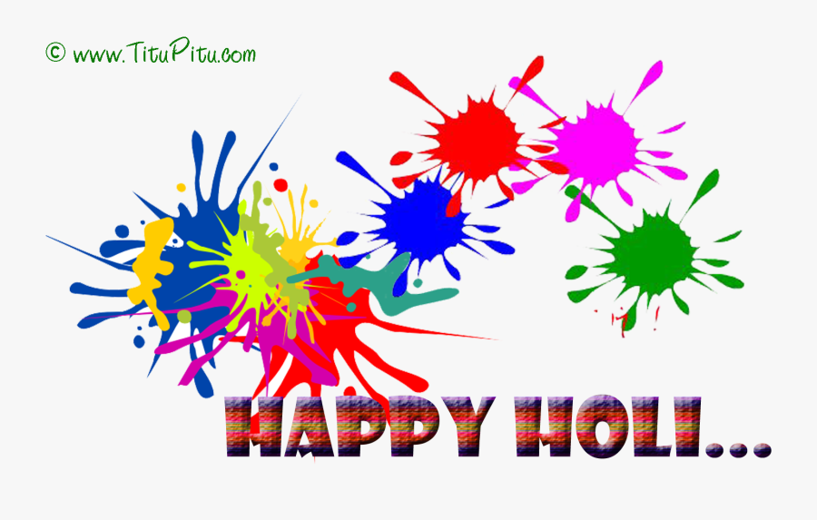Happy Holi Sms Holi Msg In English Wishes Haryanvi - Happy Holi Png Text, Transparent Clipart