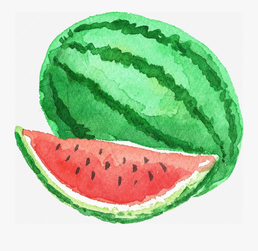 Cuisine, Food, Fruit, Fruits, Watercolor, Watercolors, - Watercolour Fruit Painting Watermelon, Transparent Clipart