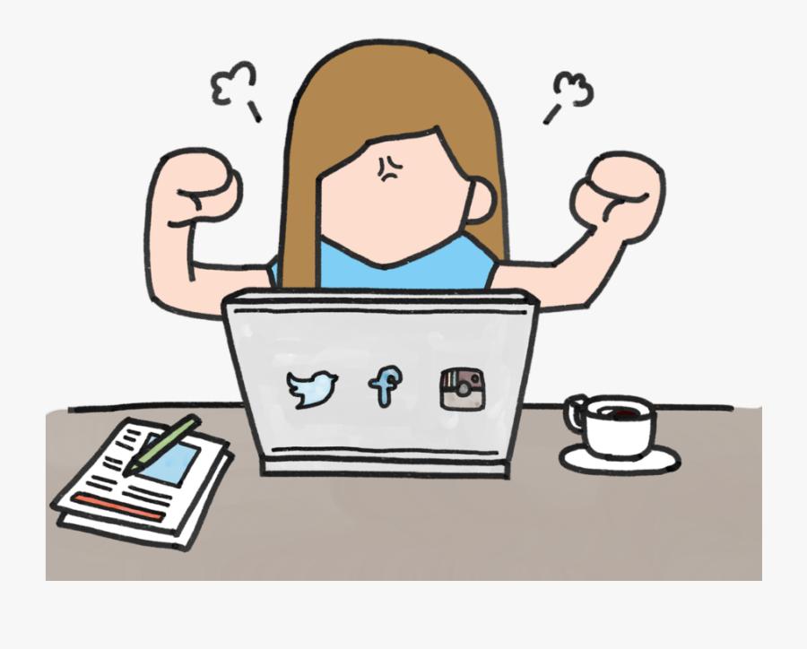 Depression Social Media Png Clipart , Png Download - Fear Using Social Media, Transparent Clipart