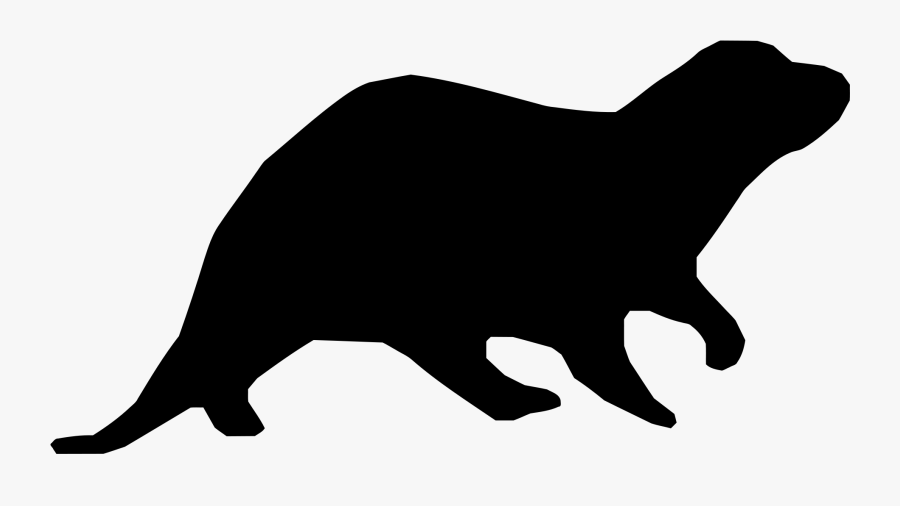 Groundhog Clipart Sea Otter - Otter Silhouette Png, Transparent Clipart