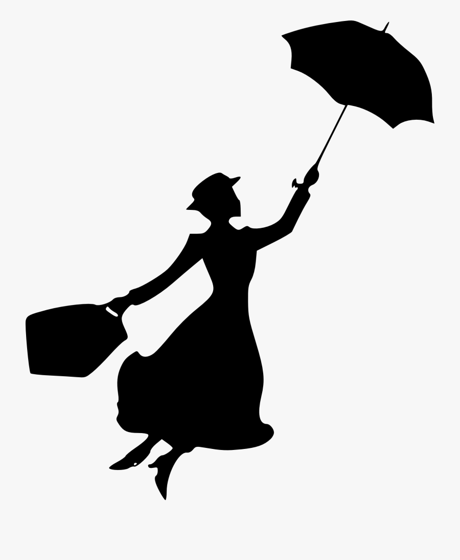 Shadow Of Mary Poppins, Transparent Clipart